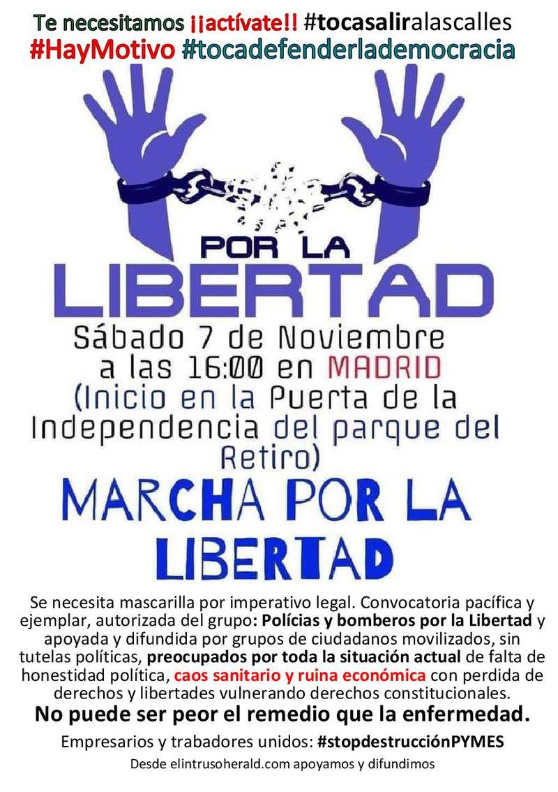 apoyamos marcha por la libertad desde el intruso herald