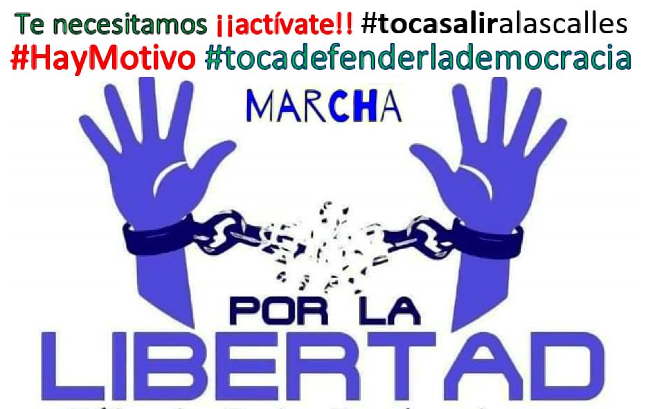 Por la libertad #tocadefenderlademocracia